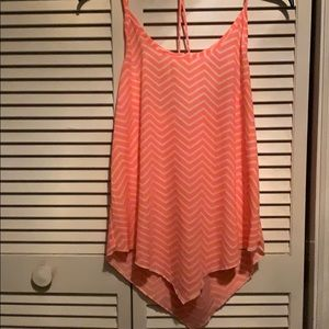 Pink and white chevron tank